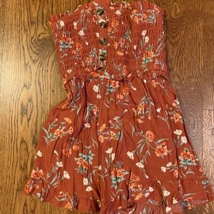 American Eagle Tuscany Flower Patterned Romper